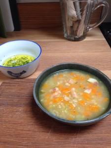 Umbria faro spelt soup