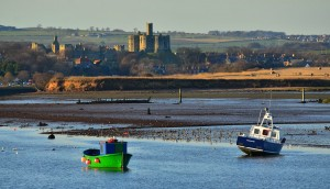 View of Warkworth Castle from Amble