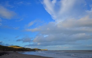 Bamburgh Beach Northumberland coast