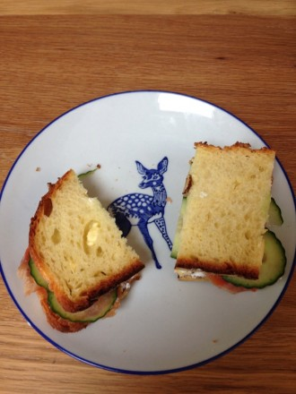 staal smoked salmon sandwich