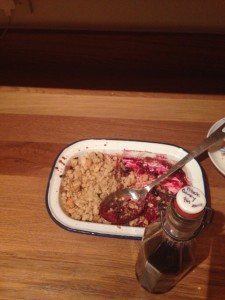 blackberry gin crumble recipe